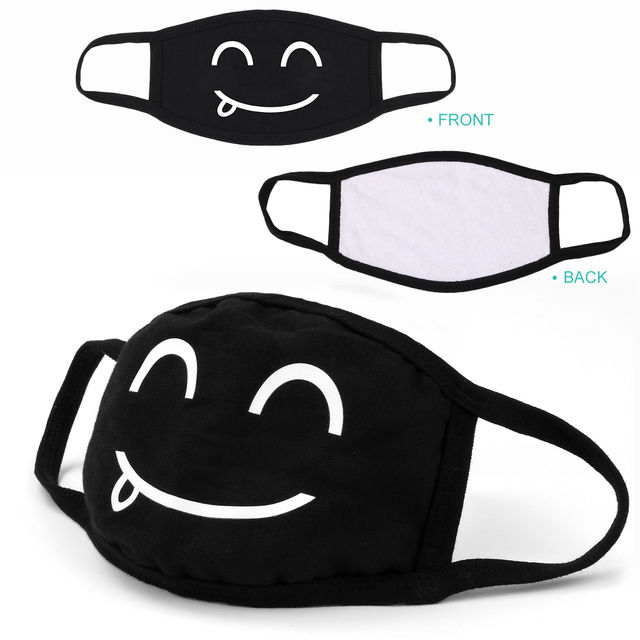 Hot sale 5pcs Cotton Dustproof Mouth Face Mask Anime Cartoon Kpop Lucky Bear Women Men Muffle Face Mouth Masks Dropshipping 1