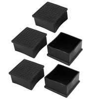 Promoção! Metros quadrados Cadeira Mesa 5 Peças em PVC macio 60mm x 60mm|Pés dos móveis| |  -