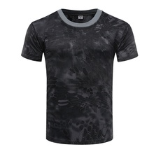 T-Shirt Physical Tactics Military-Fan Camouflage Outdoor Men Short-Sleeve Quick-Dry Training