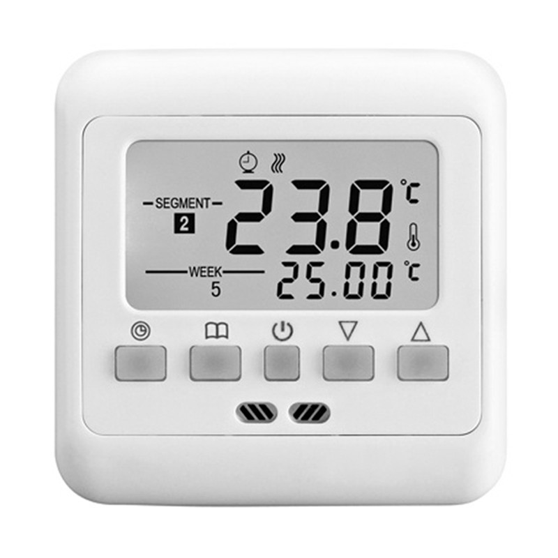New Digital Thermostat Weekly Programmable 16A Floor Heating Thermostat Room Temperature Controller Thermometer