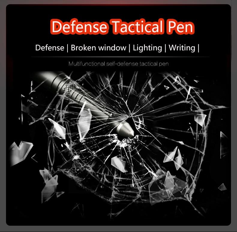 Defense Tactical Pen Multifunctional Tungsten Steel Head Tactical Pen Self-defense Supplies Women's Anti Wolf Weapon