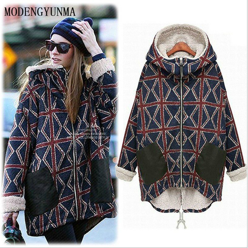 MODENGYUNMA Maternity Coats New Large Size For Pregnant Women Winter Warm Hoodie Coat Long Thick Thicken Loose Pregnancy Clothes 2017 new korea winter plus size women coat overcoat wadded coats solid hood jackets thick warm top quality loose coat a0162