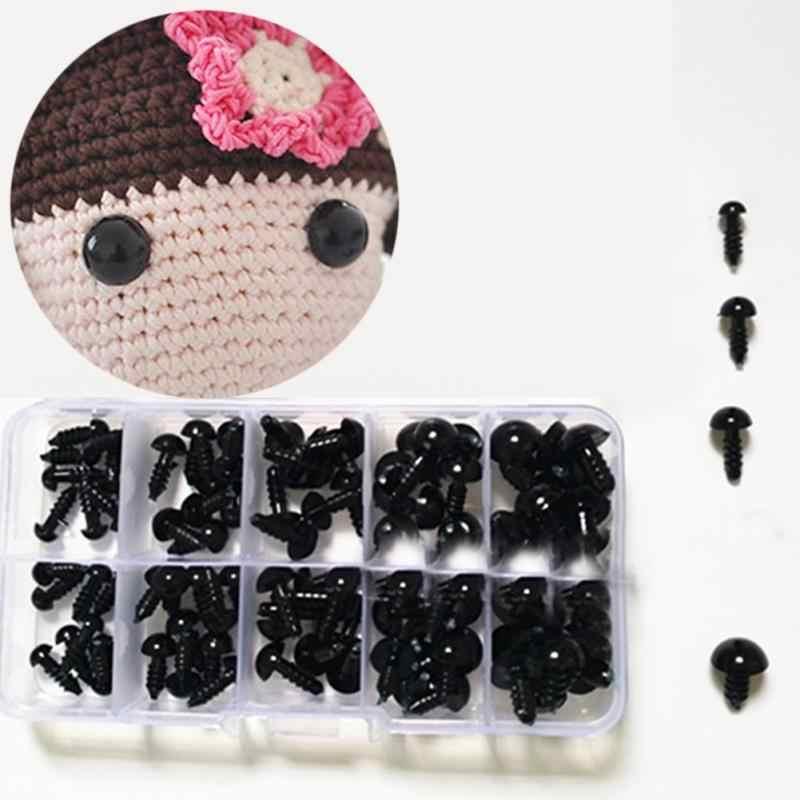100 шт. на возраст от 6 до 12 лет мм черный Изделия из пластика защитные глаза для плюшевый мишка, мягкая игрушка кукла животных амигуруми DIY Аксессуары #2