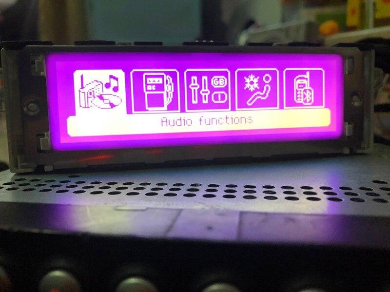 Nouveau Style Pruple support écran USB et Bluetooth Affichage rmonitor 12 broches pour Peugeot 307 407 408 citroen C4 C5 (certains Modèles)