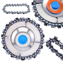 High Quality Woodcarving Disc 4 22 Saw Tooth Fine Cutting Round Chain Set for 100/115mm Angle Grinder Wood Carving