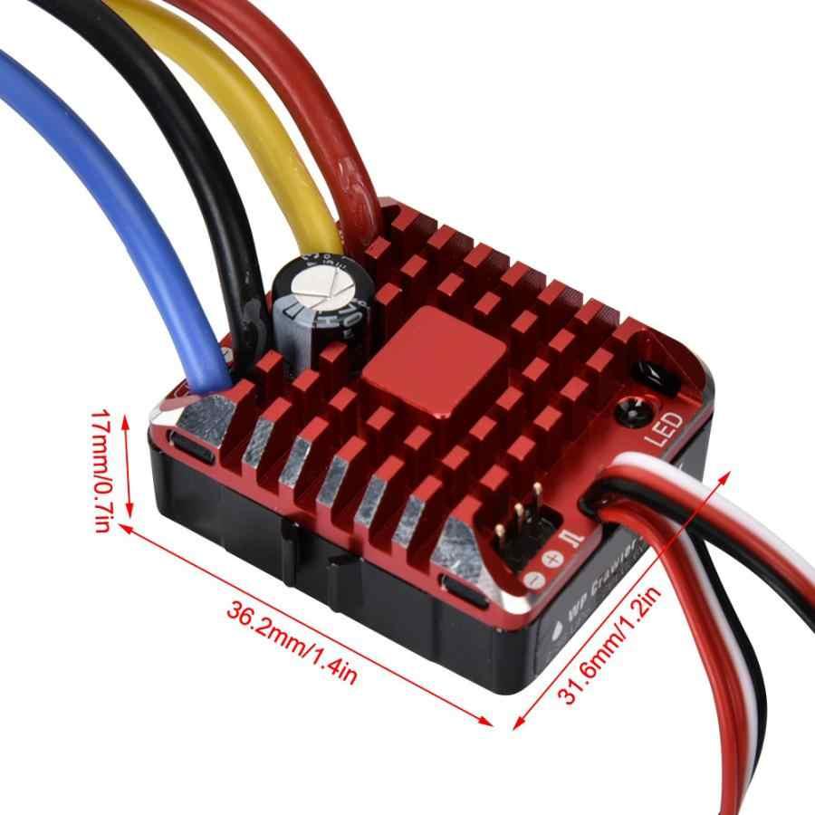 80A Водонепроницаемый 1080 матовый ESC RC Автомобиль матовый ESC электрический регулятор скорости XT60 разъем для 1/10 RC Гусеничный RC модель аксессуары