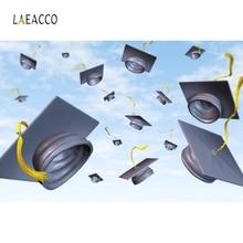 Laeacco School Graduation Backdrop Bachelor cap Photography Backgrounds Customized Photographic Backdrops For Photo Studio
