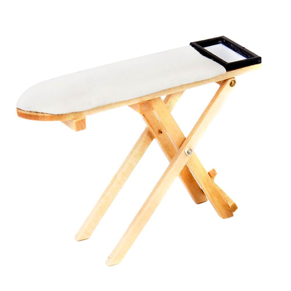 1:12 Miniature Bedroom Mini Craft Ironing Board Table Mini for Dollhouse Decor N