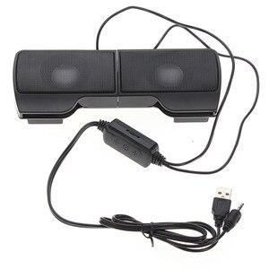 Image 5 - Altavoz Mini estéreo USB portátil, barra de sonido con Clip, para Notebook, portátil, teléfono, reproductor de música, ordenador, PC