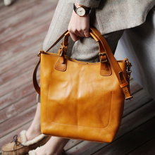 Vintage Real Genuine Leather Handbags Big Women Tote Bags Female Fashion Designer High Quality Office Ladies Shoulder Bags 2019 fashion women handbags genuine leather shoulder bags vintage style ol bags high quality