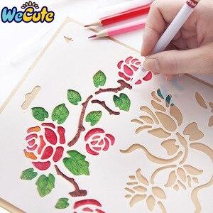 Wecute Hand Drawing Stencil Tools Kids Toys DIY Photo Album Novelty Educational Creative Children Various Styles Art Supplies