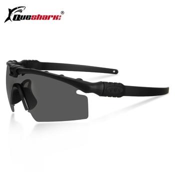 Queshark 육군 탄도 3.0 보호 군사 안경 페인트 볼 슈팅 고글 전술 편광 선글라스 근시 프레임