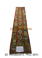 Kilim Fabric Handmade Upholstery Fabric Wool Knitting Carpets Mandala Area Runner Luxury