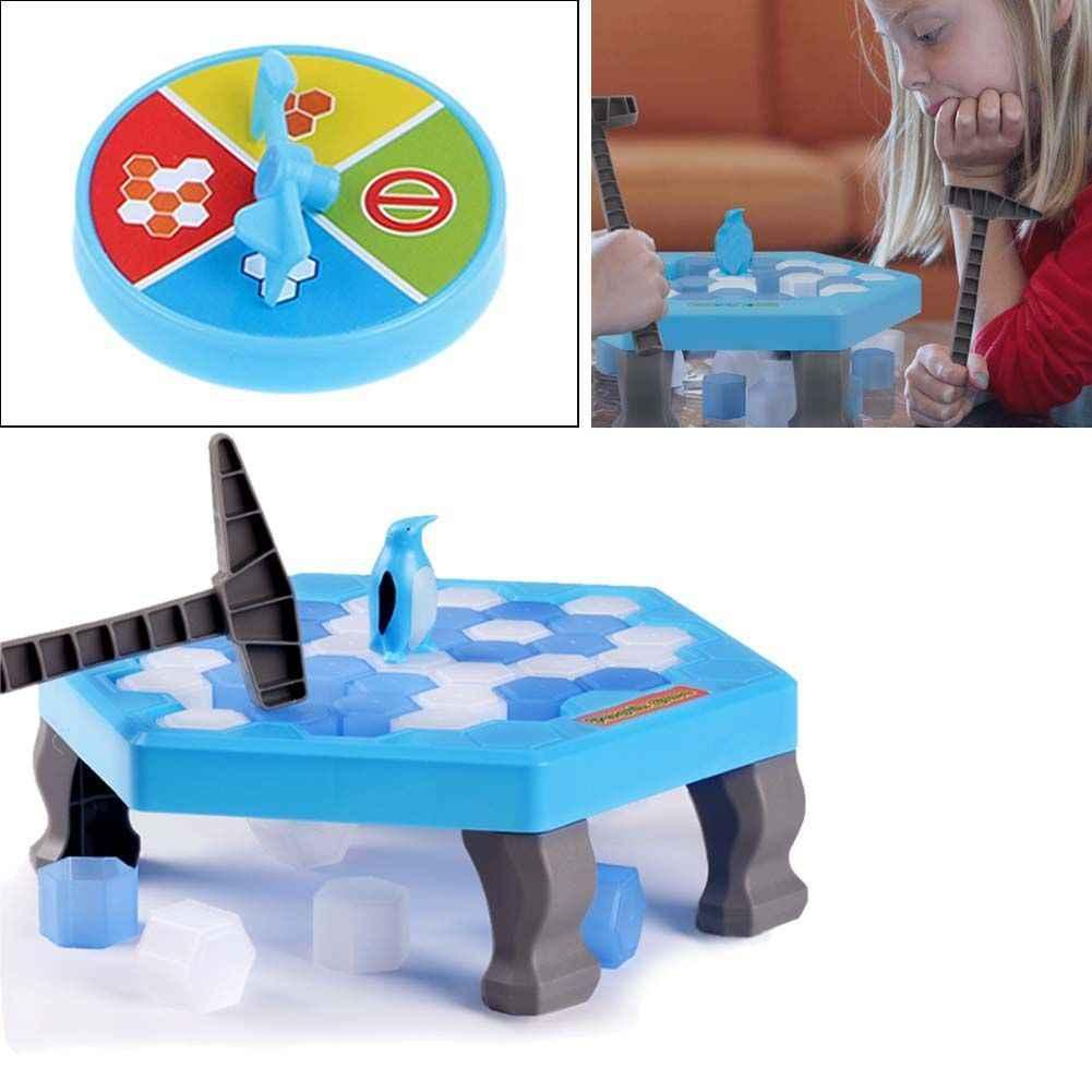 Унисекс животных Забавный вечерние Пластик Детские Пингвин ловушка дробилка для льда Дети головоломка Desktop стук игры блок игрушка для всей семьи хлопушка