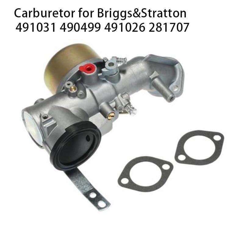 Carburetor For Briggs & Stratton 491031 490499 491026 281707 12HP Engine Carb ACarburetor For Briggs & Stratton 491031 490499 491026 281707 12HP Engine Carb A