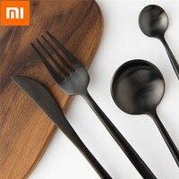 4PCS Xiaomi Mi Home Polished Cutlery Stainless Steel Flatware Set Black/Golden/Silver