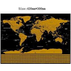 42*30 см черный карта мира путешествия царапина карта персональная стереть карту мира без трубки Креативные украшения настенные наклейки