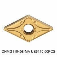 DNMG110408 MA UE6110 50 шт., оригинальный карбида вставить DNMG 110408 MA UE6110 для токарный инструмент держатель