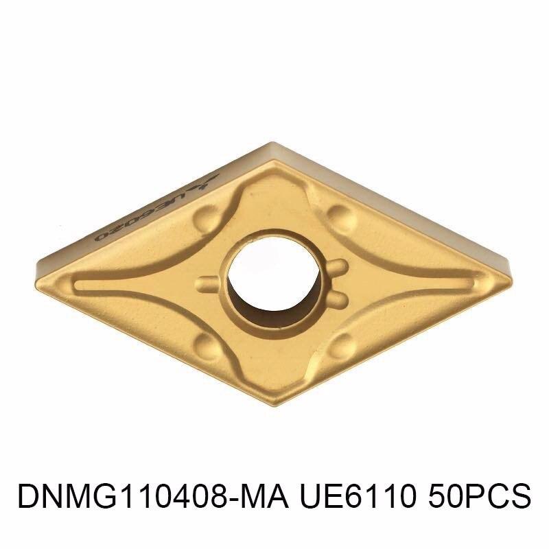 DNMG110408-MA UE6110 50 pcs, original insert de carbure DNMG 110408 MA UE6110 pour tournant porte-outil