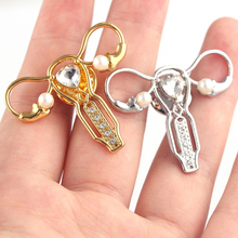 Sale Crystal Silver Womb Nurse Medical brooches For Women Doctors Stethoscope Pins Gifts Fashion Jewelry