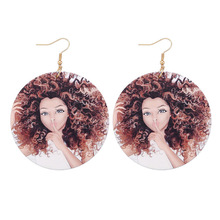 LNRRABC Natural African Wooden Earring Handmade Woman Earrings Personalized Style Girls Latest Fashion
