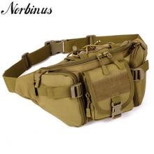 Norbinus многофункциональная поясная сумка камуфляжная мужская одежда-стойкая нейлоновая сумка тактическая хип-ремень поясная сумка военные мужские нагрудные сумки