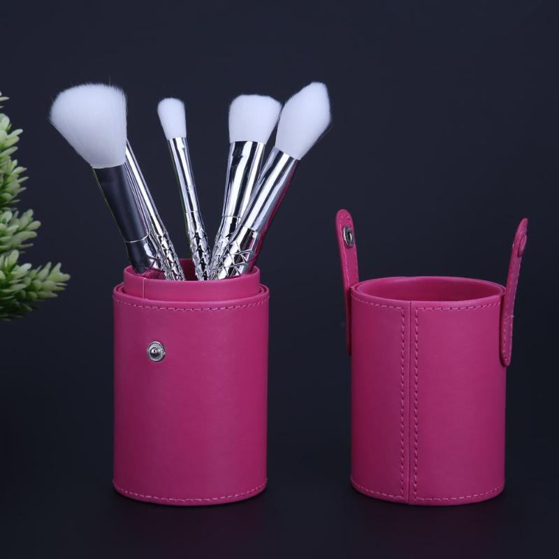 PU Leather Travel Cosmetic Brush Holder Storage Empty Holder Makeup Bag Brushes Organizer Make Up Tool Holder in Eye Shadow Applicator from Beauty Health