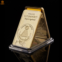 1776 World Masonic Symbol Rare Illuminati Novus Ordo Seclorum Gold Plated Metal Replica Gold Bar Collectibles For Gift светильник illuminati terrene md13003023 7a gold