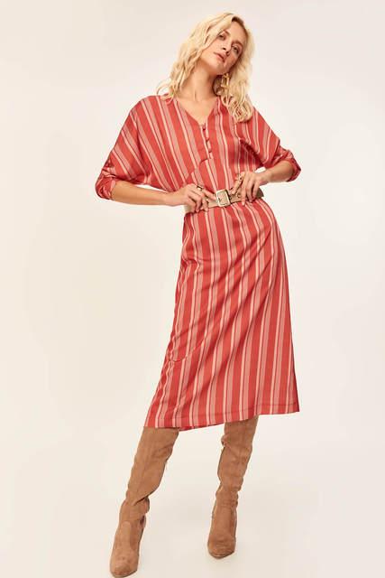 Stylish Tile Striped Dress