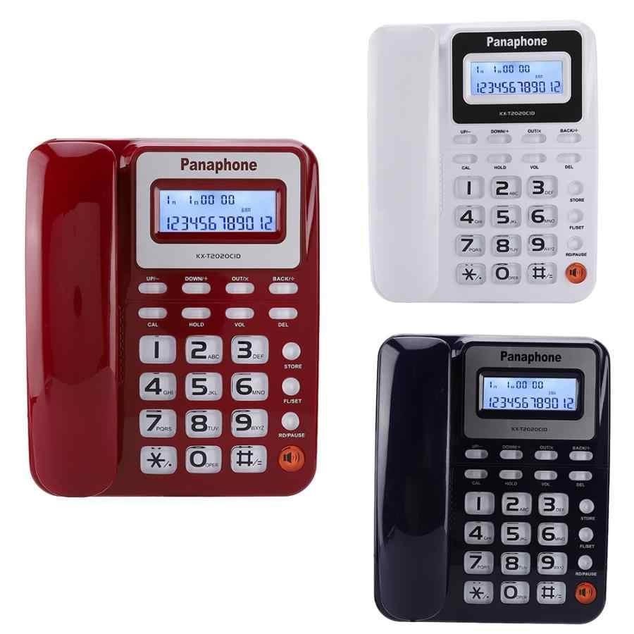 Gravador De Voz KX-2020CID przewodowy angielski telefon z głośnika dyktafon dzwoniącego wyświetlacz ID Calculater capturadora de
