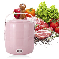 2018 New Arrival YS 303 2L Double Layer Rice Cooker Electric Cooking Lunch Box Insulation Heating Container Kitchen Appliance