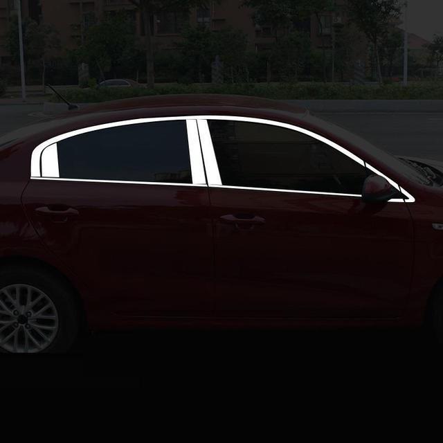 Decorative Auto Automovil Window Exterior Fashion Modification Decoration Car Styling Protecter Mouldings Trim 17 FOR Kia K2