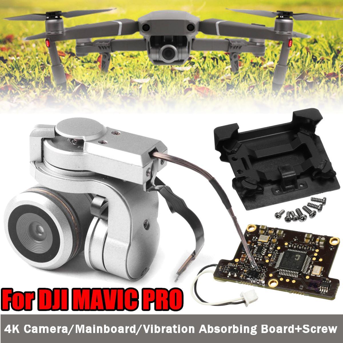 Pour DJI Mavic Pro cardan Original véritable caméra FPV HD vidéo RC Drone Cam réparation pièce de rechange remplacement panneau absorbant les chocs