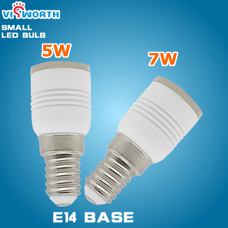 E14 Led Bulb 5W 7W SMD5730 Led Light Small Ceramics Body Crystal Lamp Warm Cold White AC 110V 220V 240V Led Spotlight