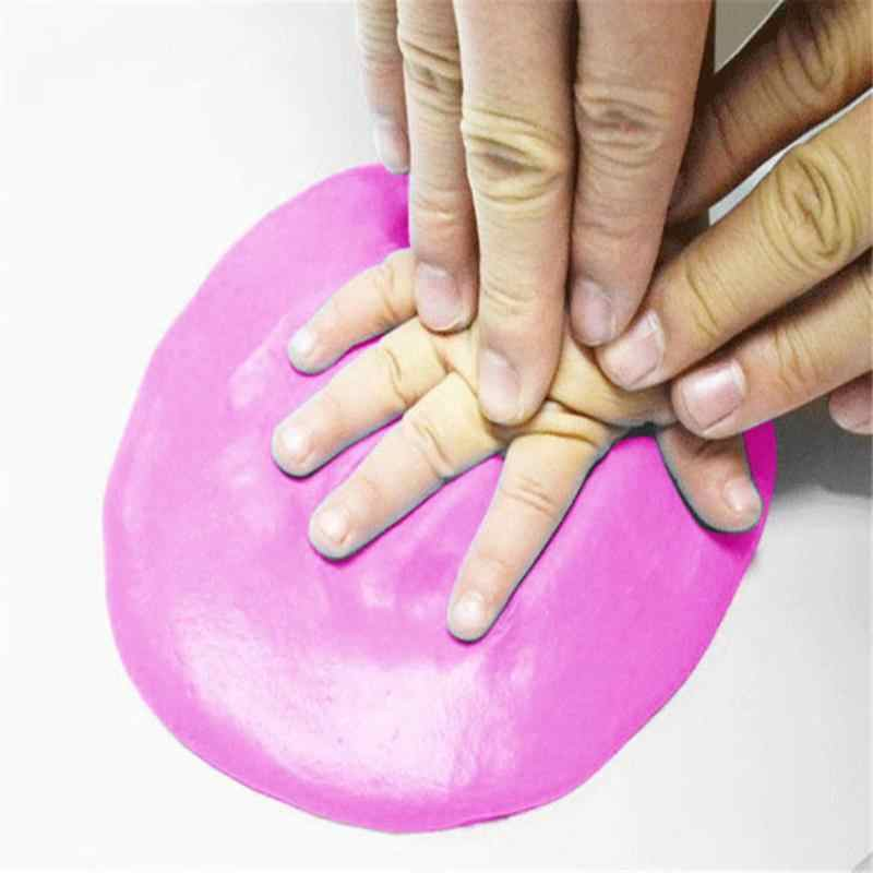 Отпечаток руки ребенка отпечаток ноги грязи безопасный новорожденный Детские сувениры ручная печать ног производитель Keepsake мягкая глина игрушка 20 г