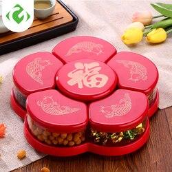 Suszone pudełko do przechowywania owoców nakrętki przekąski plastikowe pudełko do sortowania kreatywny pojemnik do przechowywania kuchni obrotowe otwieranie i zamykanie GUANYAO