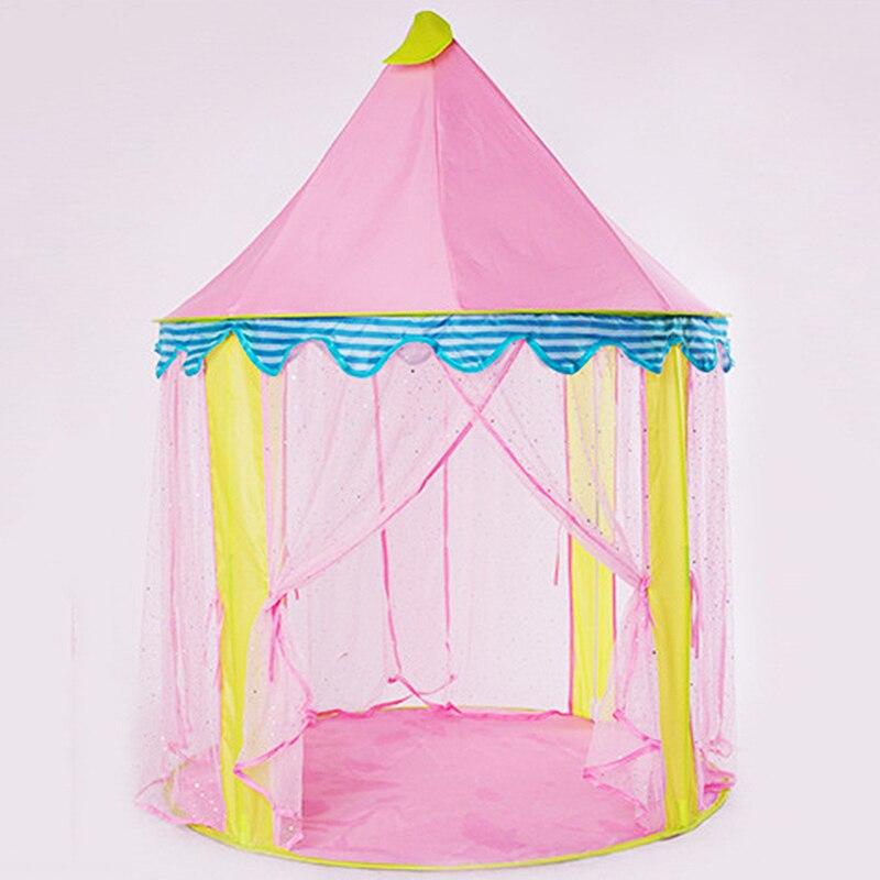 Tentes de jouets pliables jouets d'extérieur Style princesse enfants tente maison de jeu confortable et respirant petit appartement assemblage facile