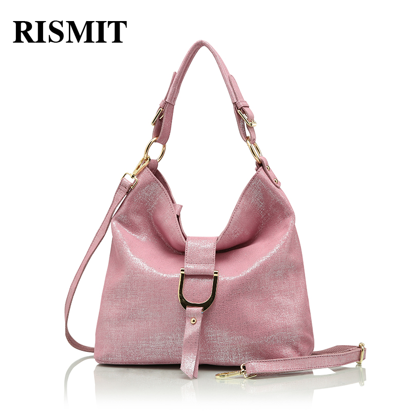 RISMIT brand genuine leather messenger bag womens shoulder bags female handbags hobo large capacity ladies casual tote bag O116RISMIT brand genuine leather messenger bag womens shoulder bags female handbags hobo large capacity ladies casual tote bag O116