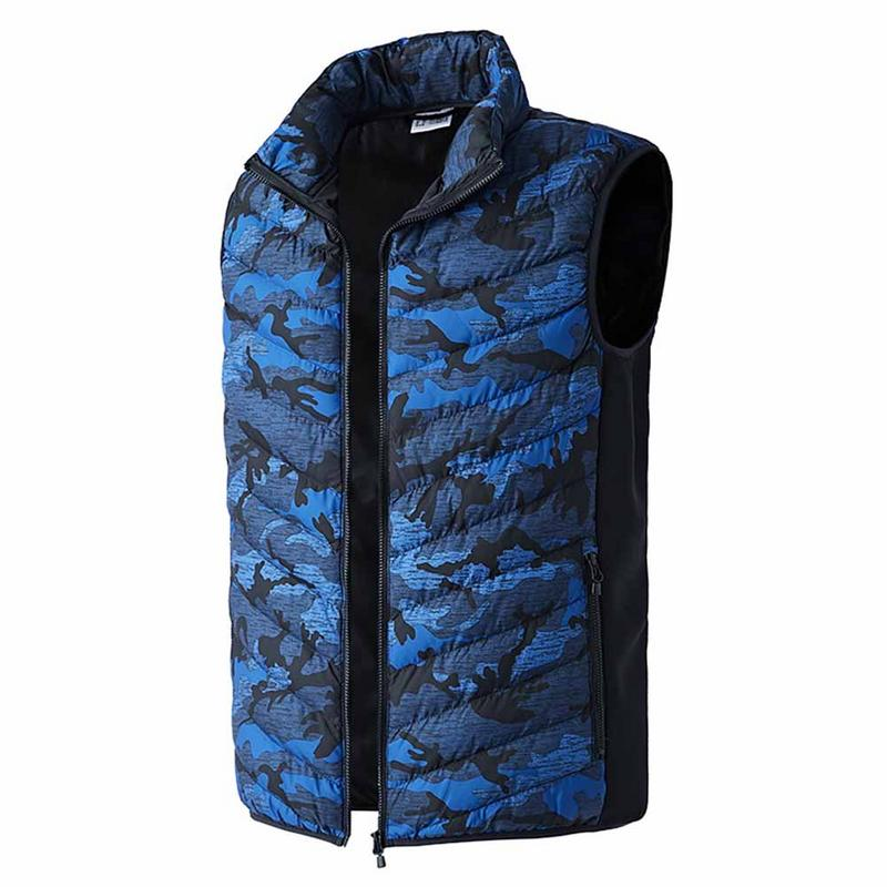 Outdoor Autumn And Winter New Electric Battery Up to 8h Warm Coat USB Charging Heated Vest Men Fishing Vest Heating Clothing