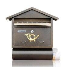Large Mailbox Wall Hanging Box Bar Cafe Retro Postbox Creative Decoration Simple Fashion Thick Zin