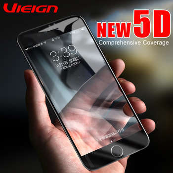 VIEIGN 5D Full Cover Tempered Glass On The For iPhone 7 8 6 6S 5 5S Screen Protector For iPhone X 10 8 6 7 Plus Protective Glass