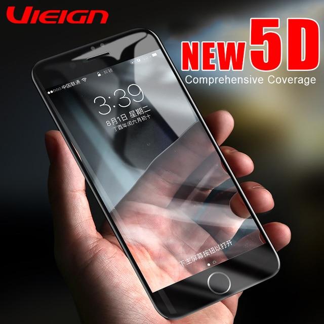 VIEIGN 5D полное покрытие закаленное стекло на iPhone 7 8 6 s 5 5S Защита экрана для iPhone X 10 8 6 7 Plus защитное стекло
