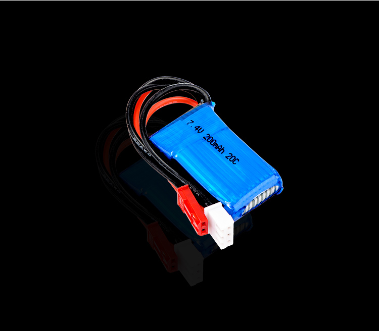 Image 4 - 5 pcs/lot 7.4V 2S 200mAh 20C LiPO Battery JST plug for RC scale 1/36 Model Buggy Truck F3P Indoor micro aircraftParts & Accessories   -