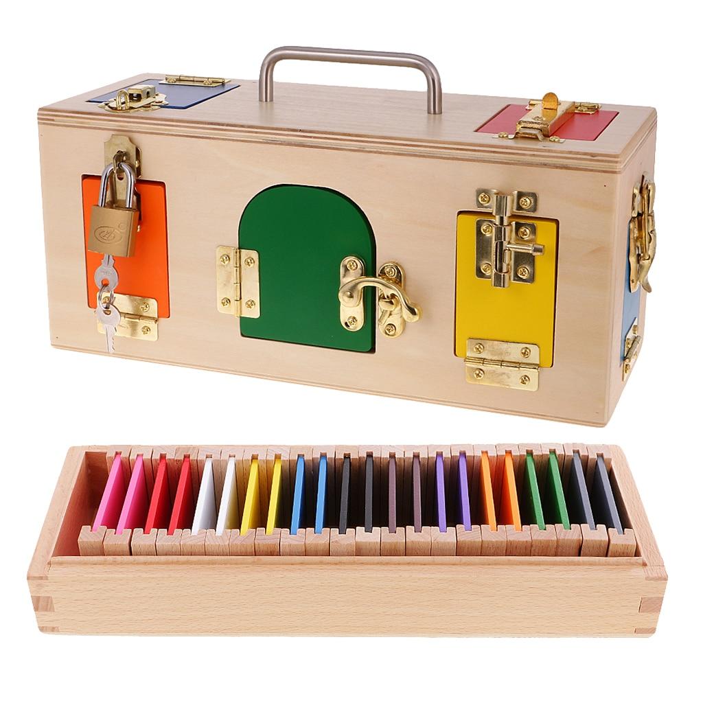 Boîte de verrouillage Montessori et boîte de couleur, cadeau de jouets de développement d'apprentissage précoce pour enfants