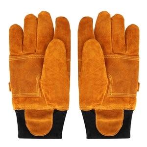 Image 5 - Rękawice robocze rękawice spawalnicze anty parowe rękawice ochronne para rękawic ze skóry bydlęcej ognioodporne żaroodporne ochronne rękawice robocze