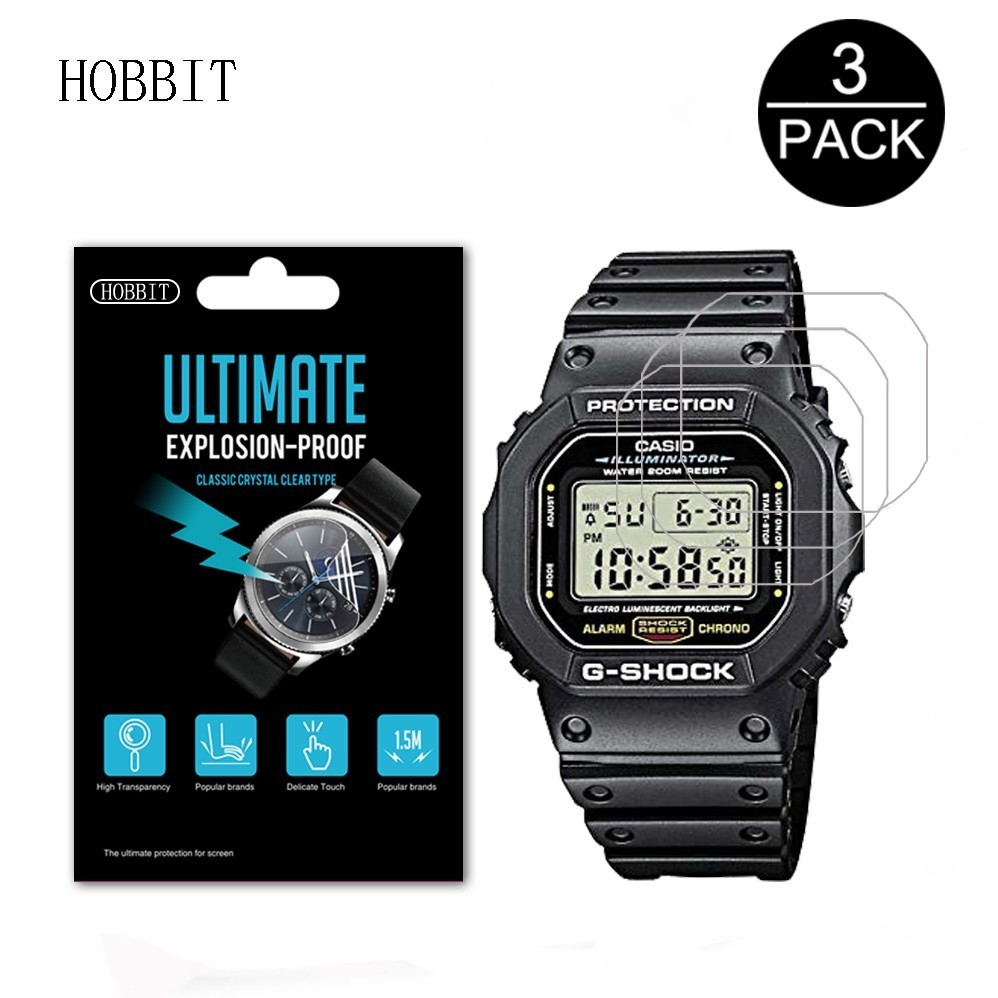 3PACK Nano Explosion-proof Screen Protector For Casio DW5600 DW9052 GWM5610 GW-5000 DW5035 A168W AE-1200 Sport Watch LCD Film