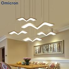 Omicron Modern Led Crown Light Suspension Seagul Creative Art Decor Lamp For Living Room Bedroom Home Lights