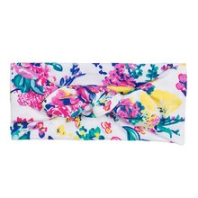 New Kids Girls Baby Headband Print Flower Floral Print Cotton Hair Band Accessories Headwear Mon Casual(China)