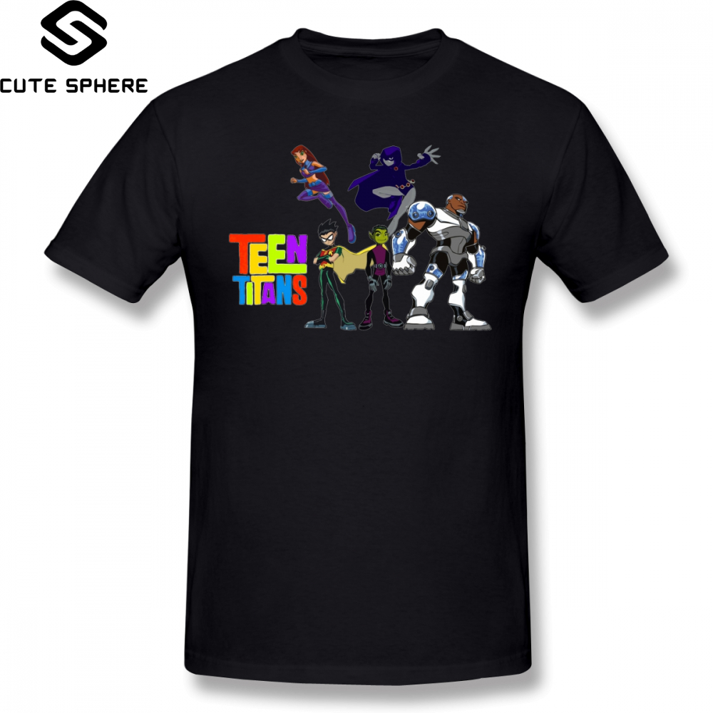 Teen Titans Go T Shirt Titans Go T-Shirt Beach Cute Tee Shirt 6xl Male Print Short Sleeves Cotton Tshirt