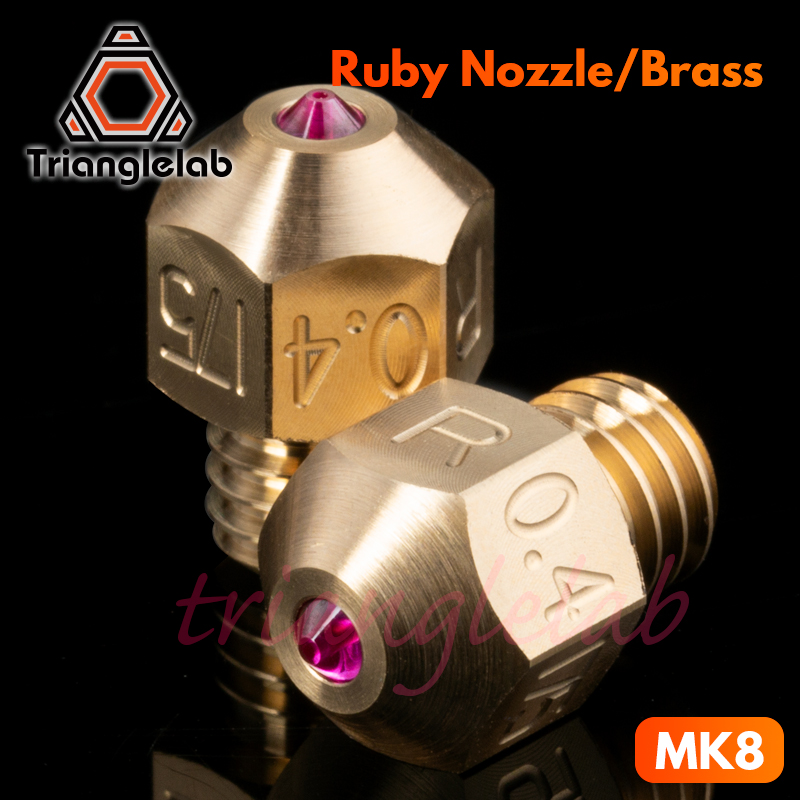 Trianglelab  High Temperature MK8 Ruby Nozzle 1.75MM Compatible With Special Materials PETG ABS PEI PEEK NYLON Etc. Ruby Nozzle